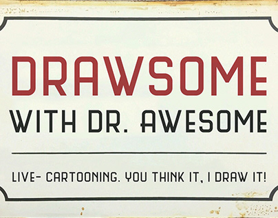 Drawsome with Dr.Awesome, live-teken acts