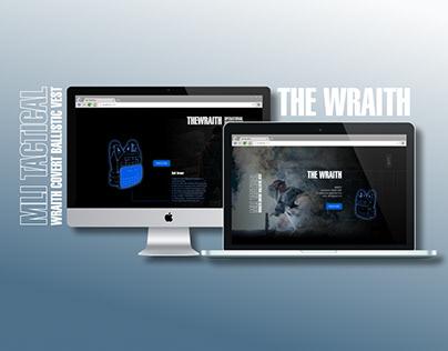 The Wraith. Website Design, UX UI Prototype