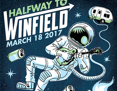 Halfway to Winfield Gig Poster