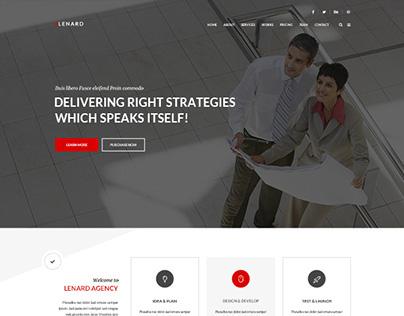Lenard - Onepage Business Website Template