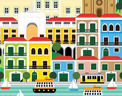 Lisbon Illustration