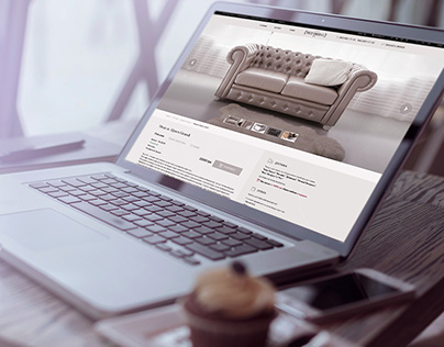 Website design for the production of sofas