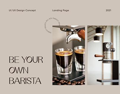 Espresso Machine Landing Concept
