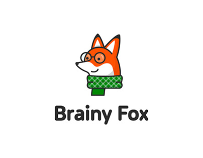 Identity and website for online courses Brainy Fox