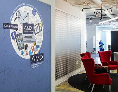 American Marketing Association Entryway Mural
