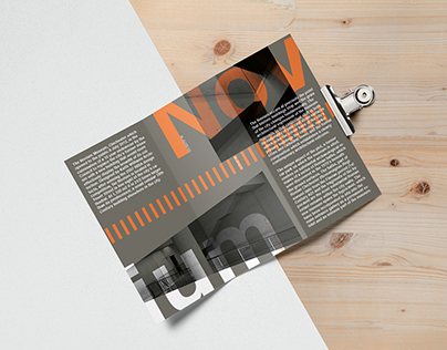 Type and layout design project.