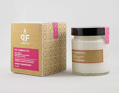 PF Candles Rebrand & Packaging Design