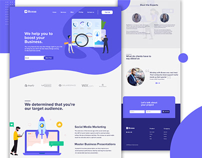 Business Marketing agency landing page