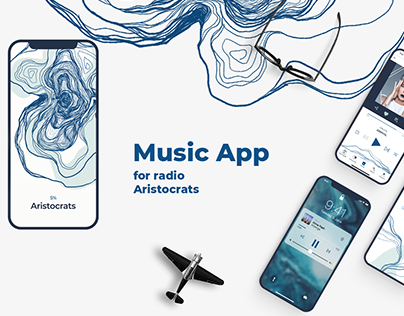 Music App for radio Aristocrats | Design concept
