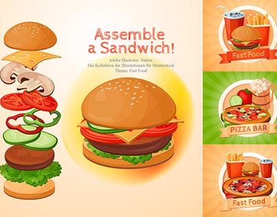 Illustration. Fast Food