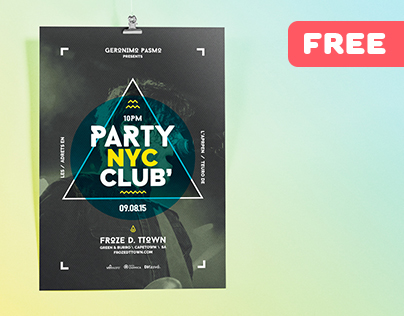 NYC Club Party -– Free Flyer Template