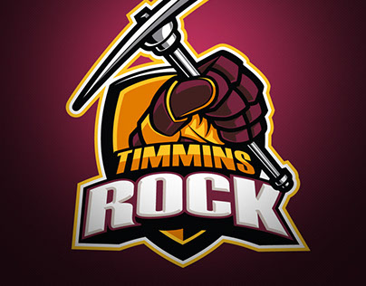 "Timmins Rock - Junior ""A"" Hockey Club Logo"