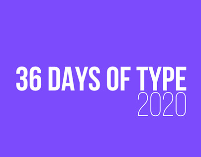 36 DAYS OF TYPE collection