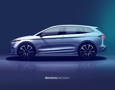 Škoda Enyaq iV - press sketch (2020)