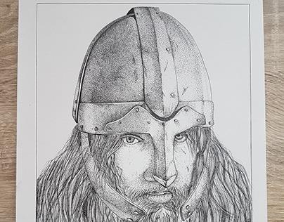 Viking ink drawing