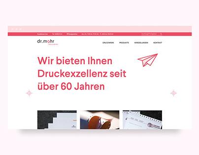 dr.mohr Druckwerk   Website