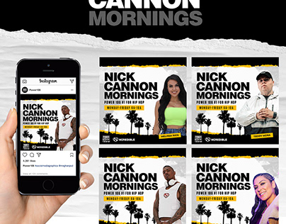Nick Cannon Mornings Branding