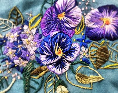 Peony Embroidery