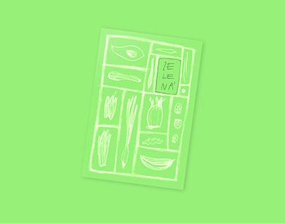 Green. illustration