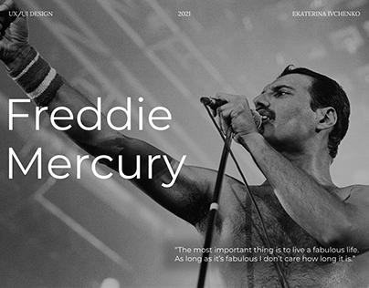 Freddie Mercury - biographical landing page