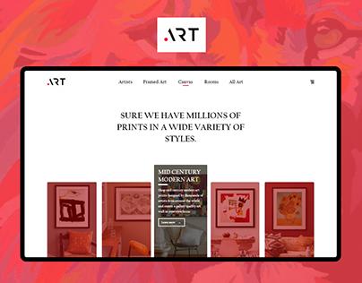 Art Homepage design