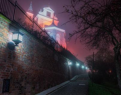 A foggy night in Warsaw (25-26.10.2019)