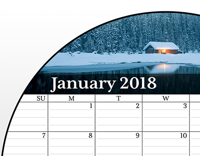 Calendar layout for metal prints