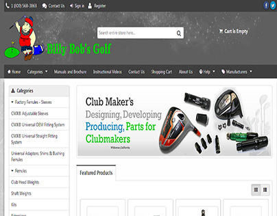 billybobsgolf PSD to XCart by Sparx IT Solutions