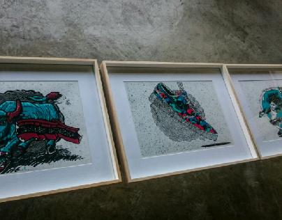 Triptych (a three part illustration)