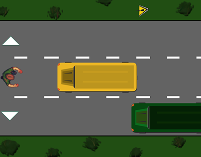 "First Video Game - ""SCHOOL BUS ESCAPE"""