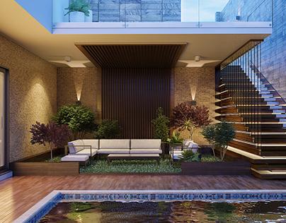 Modern Pool & Basement Design