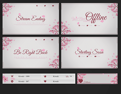 Cherry Blossom Stream Pack by Kireaki Stream Design