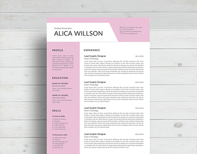 Colored Resume template