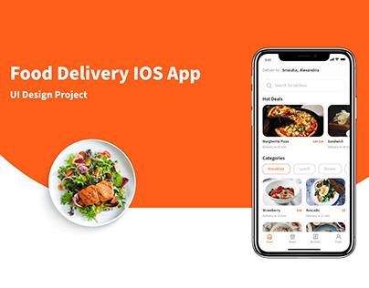 food delivery IOS app UI design
