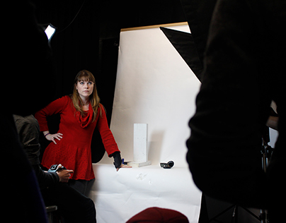 Behind the Scenes of a College Photoshoot