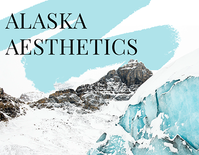 Alaska tourism graphic concept