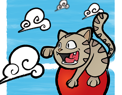 CAT IN THE SKY