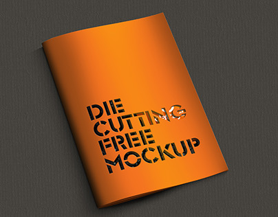 FREE MOCKUP  |  DIE CUTTING BROCHURE