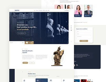 Juxly Law Firm and Attorney PSD template