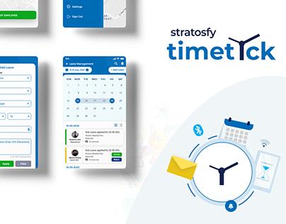 Timetick Mobile app Design