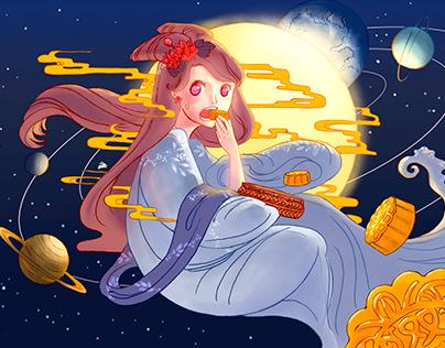 Illustration for Mid Autumn Festival