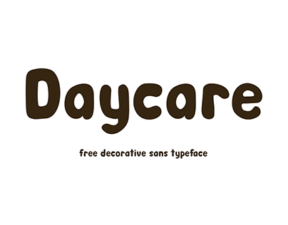 Daycare - free decorative sans serif typeface
