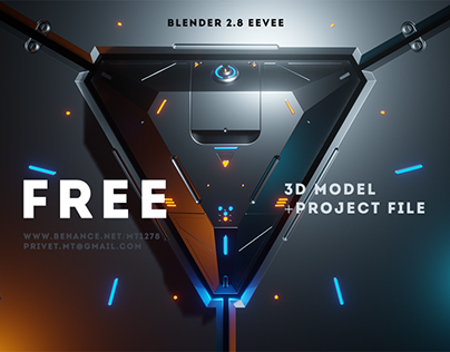 Sci-Fi Triangle - Free Project File Blender 2.8 Eevee
