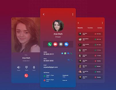 Call app design