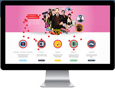 Entertainment Microsite - Ooredoo Telecom