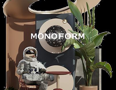 Design art for the site MONOFORM. Astronaut