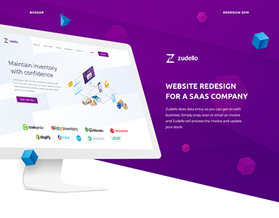 Corporate website design for a SaaS company.