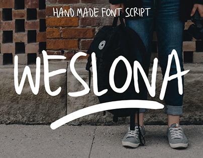FREE   Weslona Font