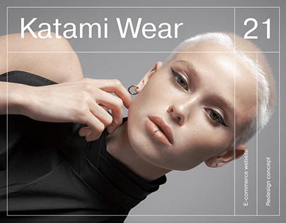 Katami Wear — redesign website