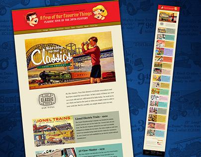 20th Century Toy History Website
